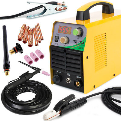 Tig 220v Dc Inverter 250amp Argon Gas Wig Arc Stick Mma Welding Machine Welder
