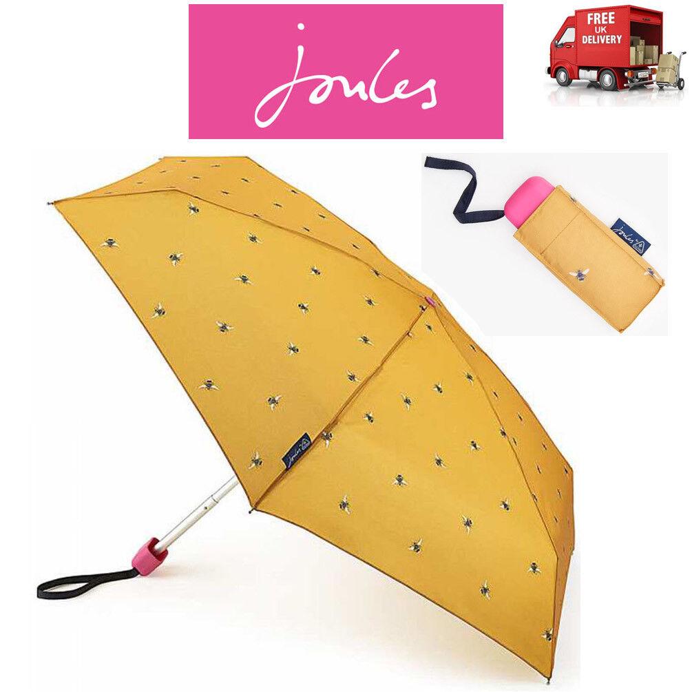 Joules Botanical Bees Gold Compact Tiny Folding Umbrella Handbag Size 8f3764