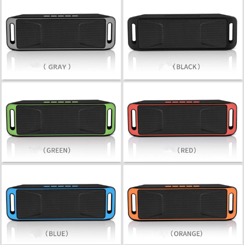 Audio Player Docks & Mini Speakers AUX Orange Portable Wireless ...