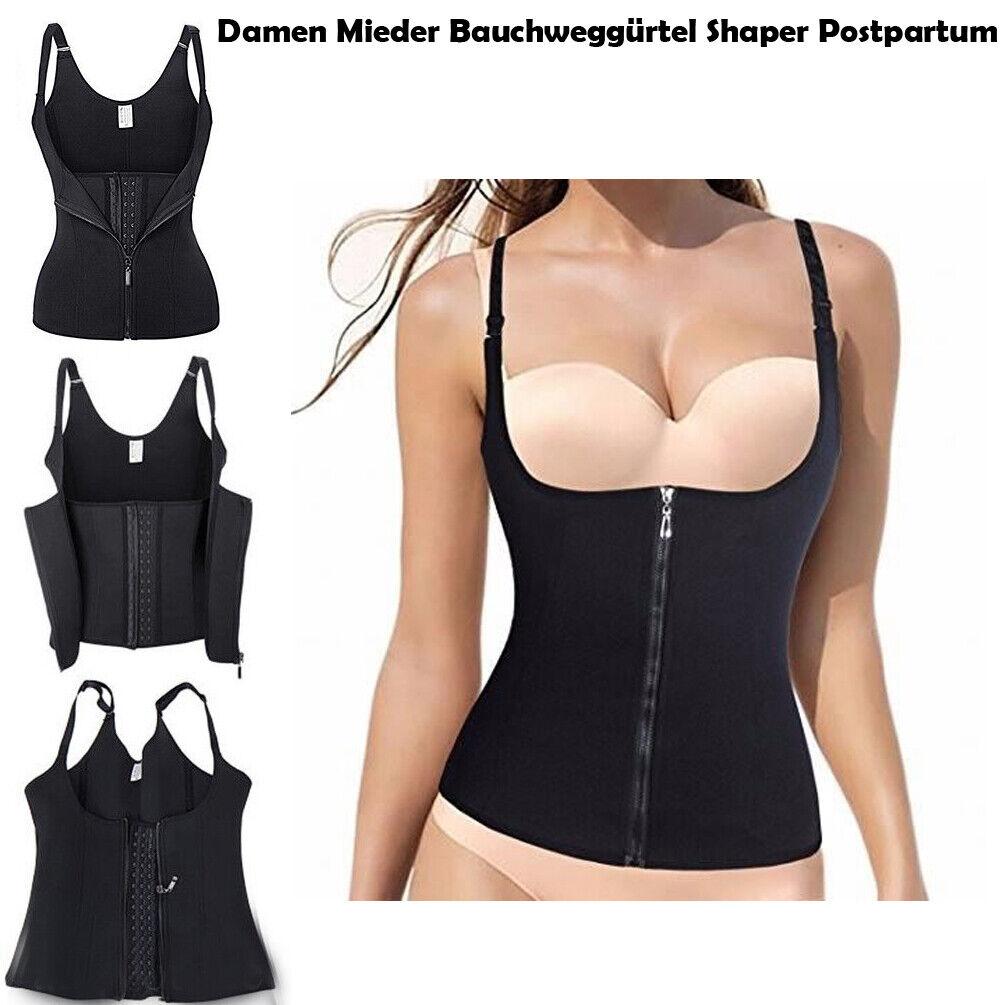 Damen Body Shaper Korsett Trainer Bauchweg Taillenmieder Postpartum Neopren