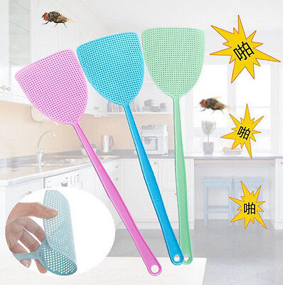 Plastic Insect Prevent Fly Swatter Bug Pest Mosquitoes Control Long Handles Tool