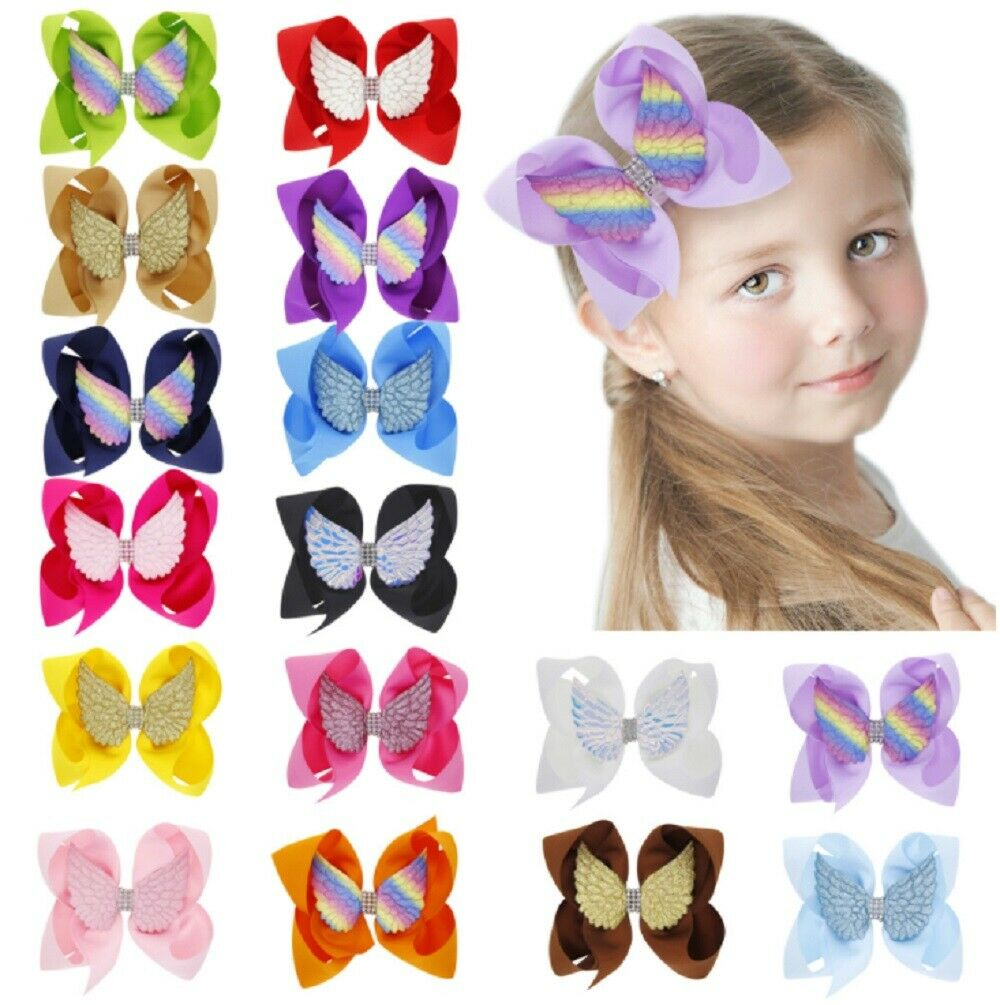 16 Pcs Hair Bow Ties Hair Clips Two Layer Butterfly Hairpin Girl Bowknot Hairpin Clothing, Shoes & Accessories