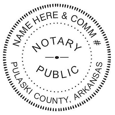 Arkansas Custom Notary - Round Self-inking Notary Seal Rubber Stamp - Ideal 400r