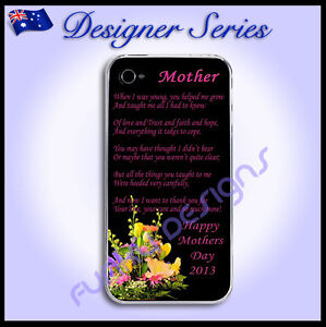 Personalised Apple iPhone 4 / 4S case hard cover Happy Mothers Day Gift Mum 52