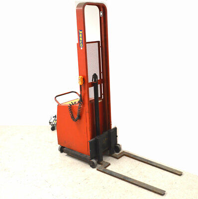 Wesco 1000-lb Straddle Powered Stacker 12v Built-in-charger Adjustable 72lift