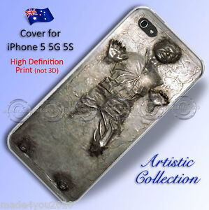 Designer Apple iPhone 5 5G 5S Hard Phone Case Star Wars Han Solo Carbonite 503
