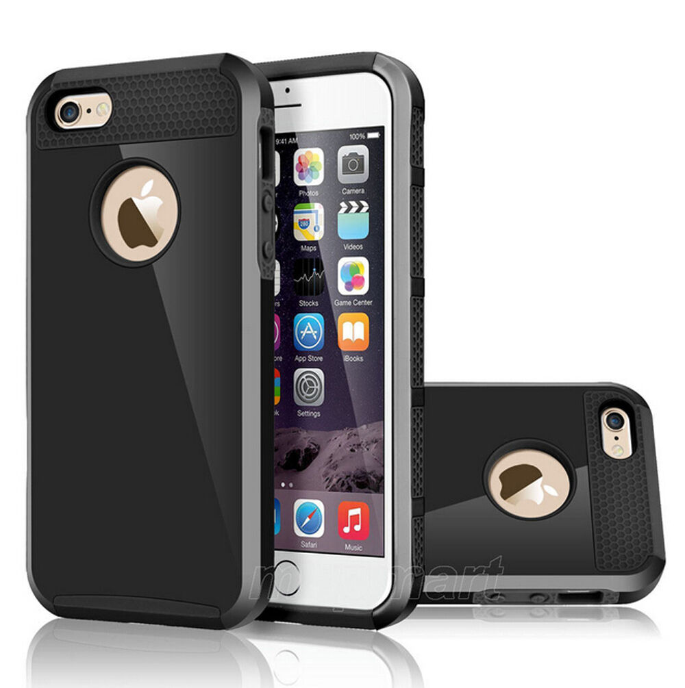 For Apple iPhone 5 SE 5S Hybrid Rugged Shockproof Armor Hard Skin PC Case Cover