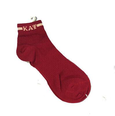 Kappa Alpha Psi Fraternity Socks Footies- Crimson/ Cream-New!