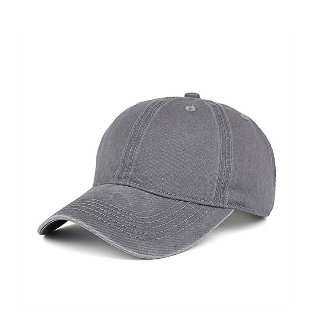 Solid Distressed Vintage Cotton Polo Style Baseball Ball Cap Hat 100% Cotton Clothing, Shoes & Accessories