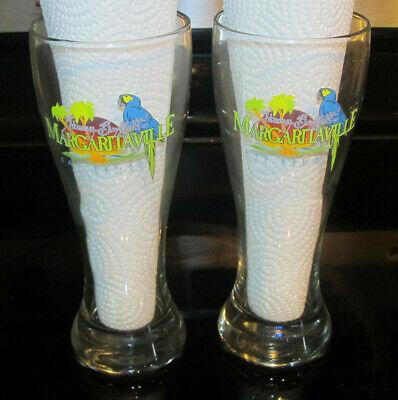 JIMMY BUFFETTS MARGARITAVILLE PARROT LOGO 8 INCH GLASS FROM LAS VEGAS, NEVADA!