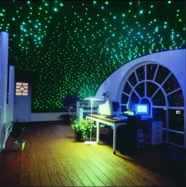 Glow In The Dark 3D Stars Moon Stickers Bedroom Home Wall Room Decor DIY 200pcs