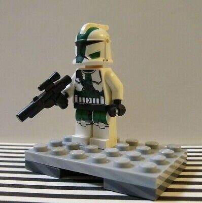 Lego Clone Commander Gree 9491 11905 Dark Green Trooper Star Wars Minifigure