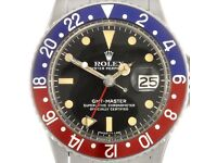 Watches, Rolex, Breitling, Omega, Patek etc. Looking for good quality watches cash waiting