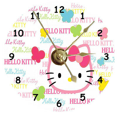 Hello Kitty With Butterflies Cd Clock