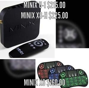 ANDROID TV BOX Minix Neo U1,X8H, X6 loaded w/ qwerty keyboard