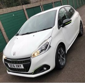 Peugeot 208 xs lime white 5 door 2016 full service history only £20 tax cheapest on the net !!