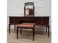 Stag Minstrel Dressing Table With Stool (DELIVERY AVAILABLE FOR THIS ITEM OF FURNITURE)