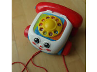 Fisher-Price Chatter Classic Toddler Pull Along Telephone