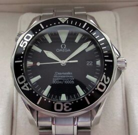 Omega Seamaster Automatic Gents Watch Black Wave Dial 2254.50.00 **Buy Online**