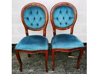 2 X Teal Bedroom Chairs