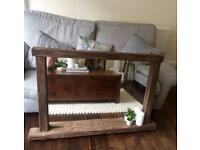 Large wooden driftwood mirror