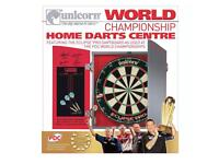 Unicorn world championship dartboard cabinet