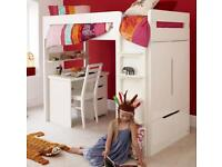 ASPACE High Sleeper Single Bed with double wardrobe
