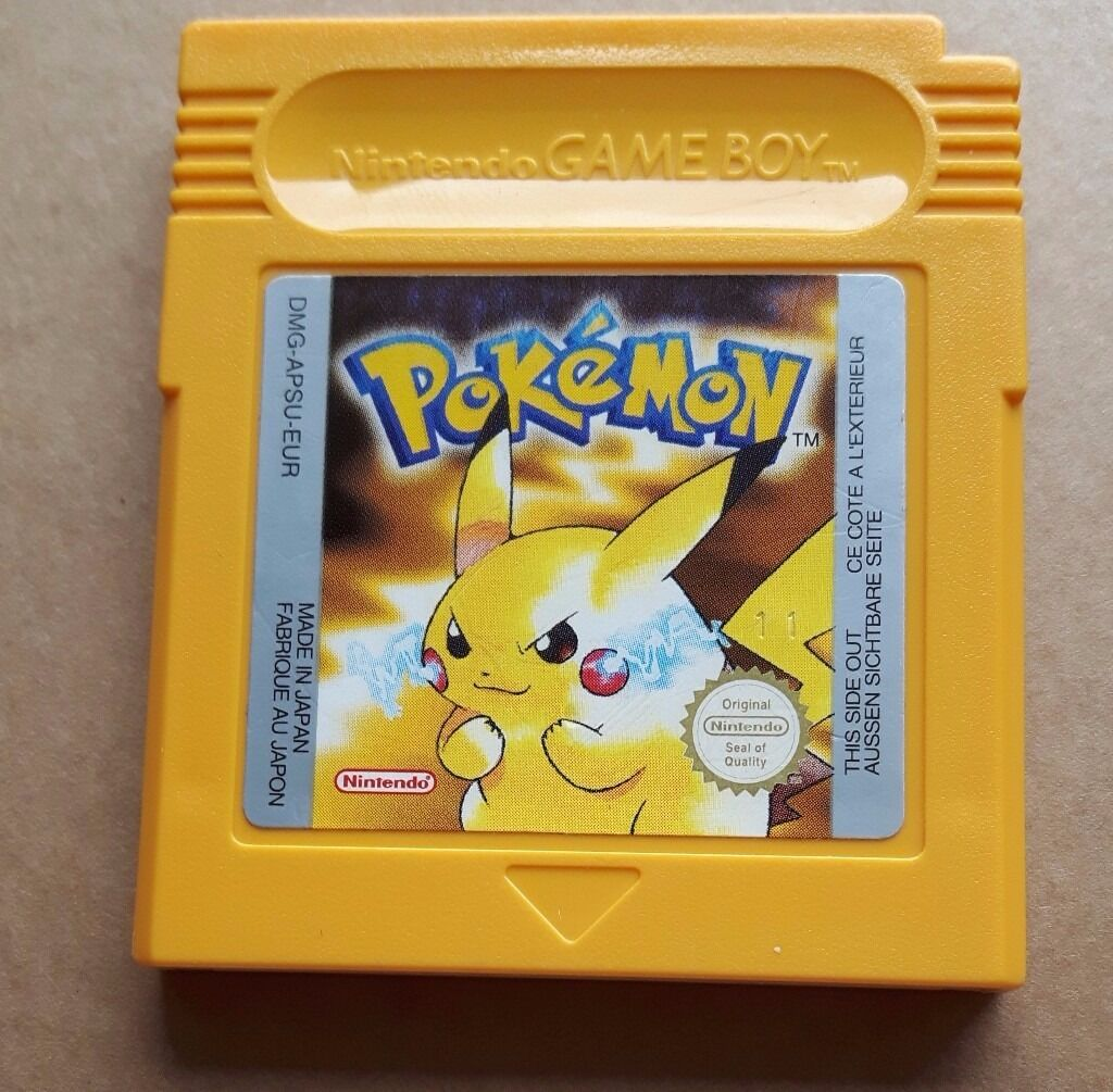 Gameboy color and pokemon yellow - Rare Pokemon Yellow For Gameboy Gameboy Color