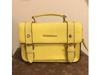 River Island yellow satchel , almost new