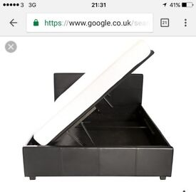 Single bed with storage for sale similar to the one in the pics