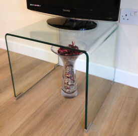 Curved glass TV stand / console table