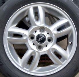 4 Genuine BMW MINI Alloy Wheels FREE NEW Tyres15 Inch 175