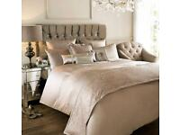 Kylie Minogue Home Allegra Shell Double Duvet Cover Bed Linen Bedding with Pillowcases and Runner