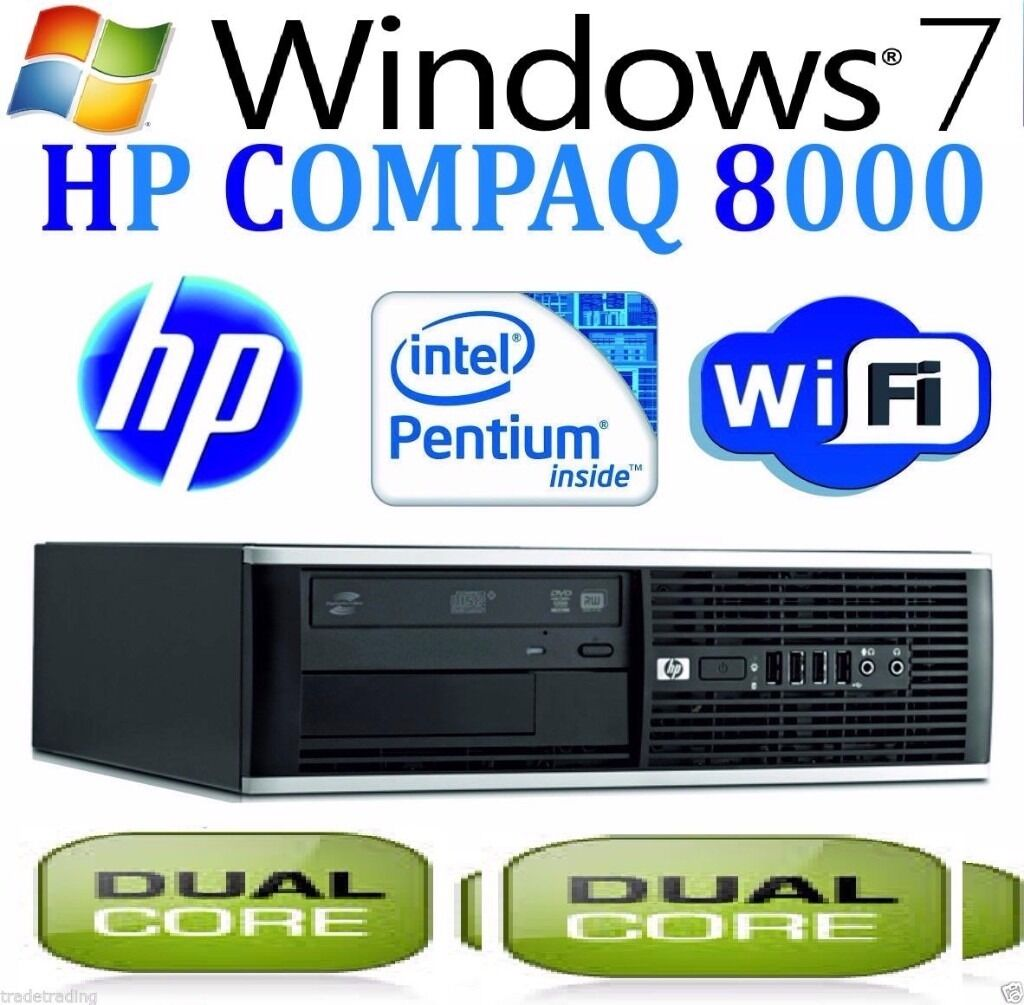 Fast Windows 7 PRO Computer HP Core 2 Duo Huge 6GB RAM DVD WiFi Cheap Desktop PCin Small Heath, West MidlandsGumtree - HP desktop Wireless 6gb ram 160 gb hard disk GOOD FOR VARIOUS TASKS SUPER STRONG PC FRESHLY INSTALLED Programs Installed OPEN OFFICE SIMILAR TO MICROSOFT OFFICE FLASH PLAYING YOUTUBE VIDEOS VLC PLAYER WATCHING MOVIES ON THE GO GOOGLE CHROME BROWSING...