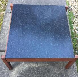 Vintage retro mid century square coffee table 60s 70s