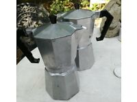 Bialetti Italian coffee maker, stove top.
