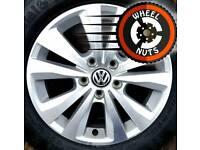"16"" Genuine VW alloys 5x112 perfect cond, premium tyres."