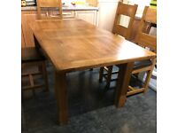 Solid Oak Extendable Table + 6 Chairs