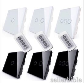 3 gang Touch and press light switch with remote
