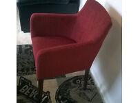 Ex-display Terracota Natural Fabric Arm Chair