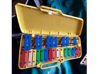 "ANGEL GLOCKENSPIEL AX25N3 AND ""THE MUSIC MAKER"" STRING INSTRUMENT"