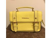 Yellow satchel handbag- River Island-excellent condition