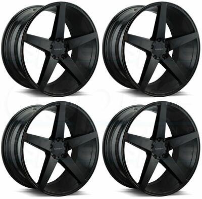 22x9 Element EL005 5x114.3 35 Black Wheels Rims Set(4)