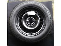 4x100 Vauxhall Wheel with Continental 185/65 R15 Tyre 8mm