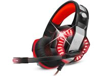 Gaming Headset for PS5 PS4 with Mic,PC,Xbox One,Laptop,Surround Sound Over Ear
