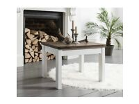 Scandi style coffee table in white & dark pine
