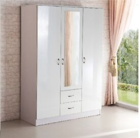 BRAND NEW KANYA 3 DOOR MIRRORED WARDROBE FAST DELIVERY