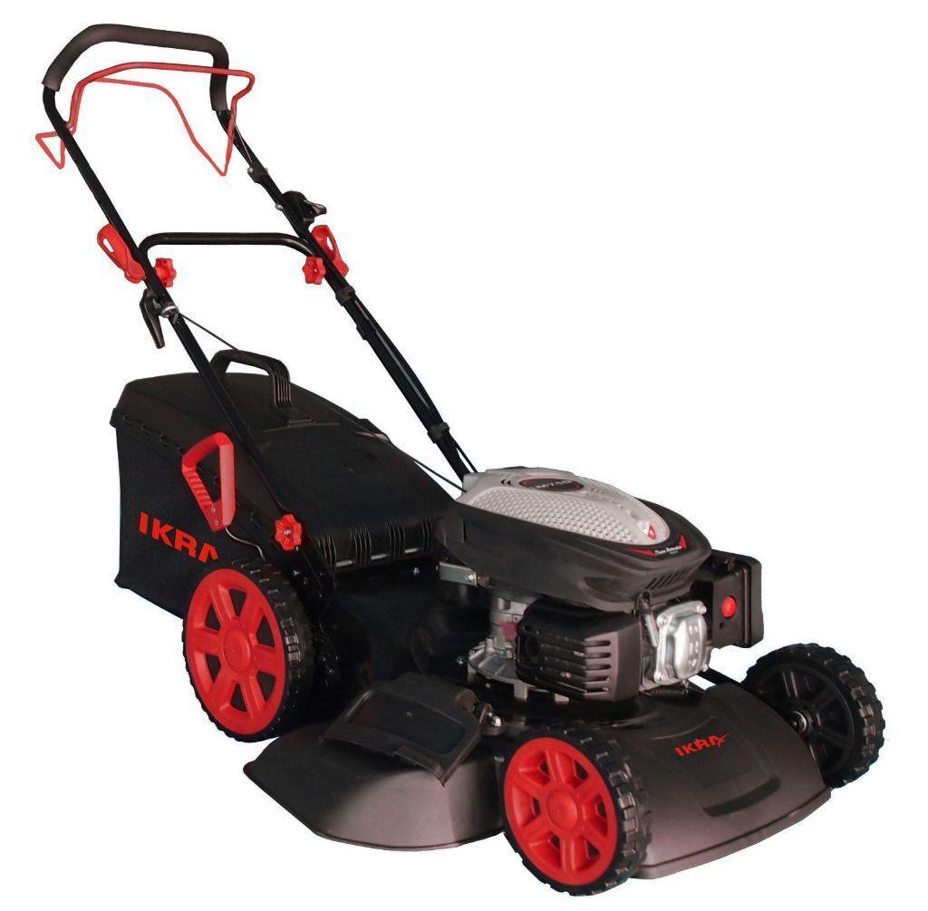 red 223cc self-propelled lamborghini-engined petrol lawn mower