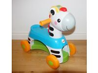 Fisher-Price Rollin' Tunes Zebra Ride On Musical Toy