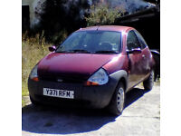 2001 FORD KA 2 SPARES OR REPAIR